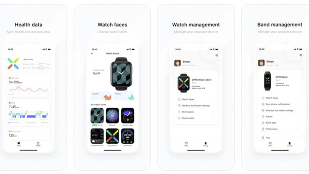 Часы и браслеты OPPO теперь поддерживают синхронизацию с Apple